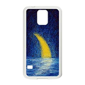 Custom Crescent Moon Design Plastic Case Protector For Samsung Galaxy S5