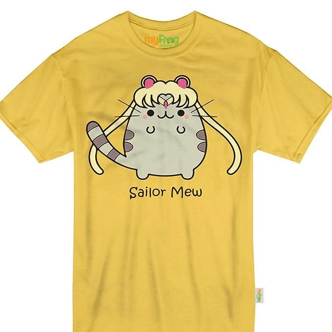 Amazon.com: Sailor Mew - Camiseta para mujer, diseño de gato ...