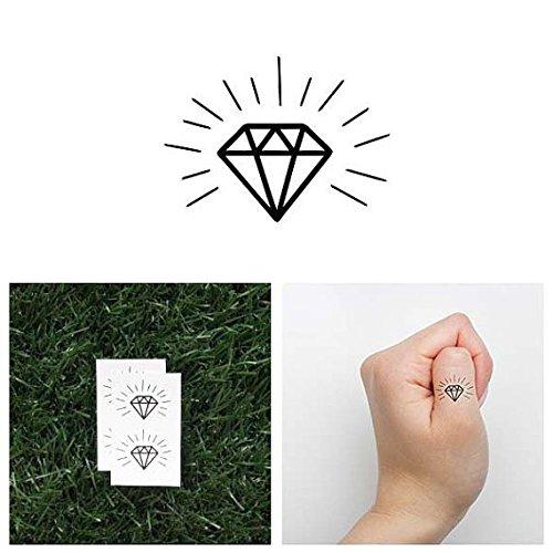 Tattify Tiny Diamond Temporary Tattoo - Hidden Gem (Set of 2) - Other Styles Available - Fashionable Temporary Tattoos (Best Hidden Gems In Los Angeles)