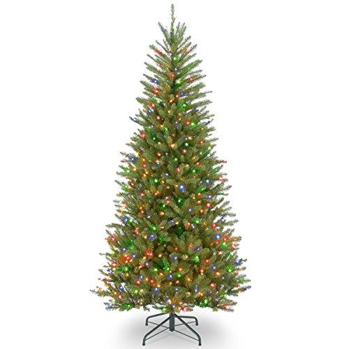 National Tree 6.5 Foot Dunhill Fir Slim Tree (Color Tree Slim Multi Christmas)