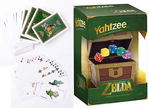 The Legend of Zelda Collector's Edition Game Yahtzee & Zelda Playing Cards Set 2-Pack