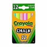Chalk, Assorted Colors, 12 Sticks/Box