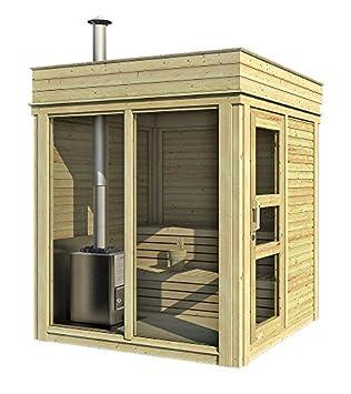 """Relativ Finnische Sauna, Modell """"Cube"""", für den Außenbereich, geeignet für FL36"""