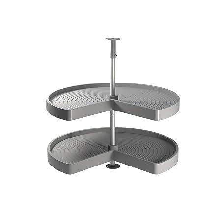 Cestello Girevole Per Mobile Base Ad Angolo.Emuca Guarnitura Girevole Per Mobile Ad Angolo Di Cucina