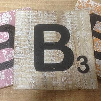 Holzbuchstaben Kinderzimmer Zum Aufstellen.Holzbuchstaben Deko Buchstaben Aus Holz Im Scrabble Look Quadratisch Größe Ca 10 Cm X 10 Cm Shabby Chic Balsa Holz Buchstabe B