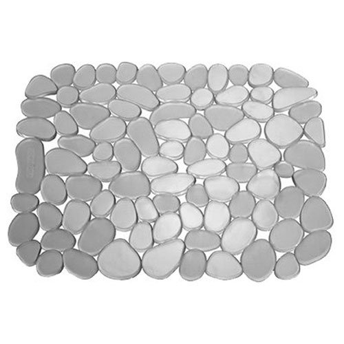 Interdesign Sink Mat Pebble 10.75 X 12.25 Gray