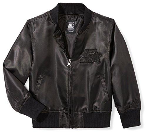 Starter Girls' Lightweight Bomber Jacket, Amazon Exclusive, Black, S (6/6X)