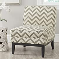 Safavieh Mercer Collection Armond Accent Chair, Grey and White