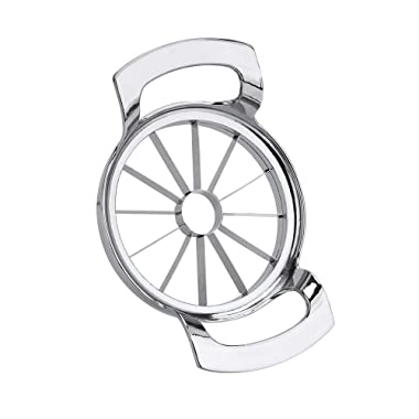 FEITA Stainless Steel Apple Slicer and Corer 12 Blades Food Grade 304 Extra Large Heavy Duty Apple Cutter Divider up to 4 Inch Apples