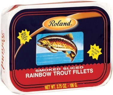 Roland Smoked Sliced Rainbow Trout Fillets 3.75 Oz (50 ()