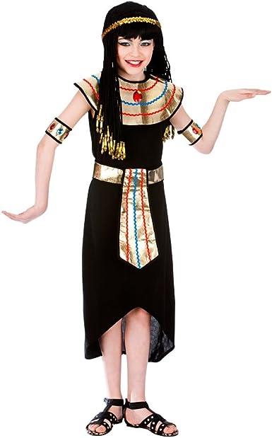 Girls EGYPTIAN QUEEN FANCY DRESS COSTUME Egypt Cleopatra Kids Book Week Day UK