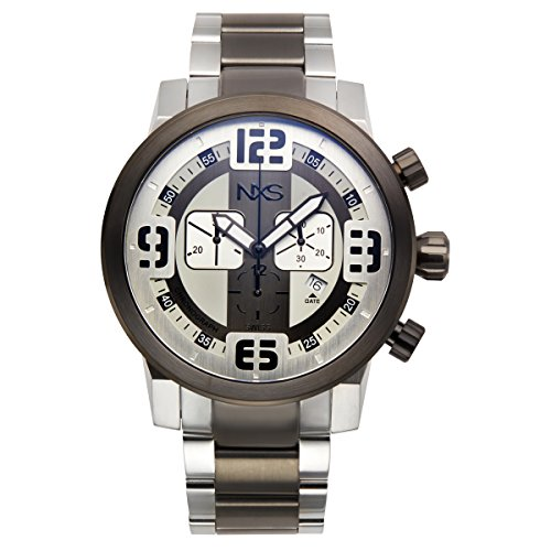 NXS Men's 'Moto' Swiss Made Ronda 5030.D Movement Surgical Grade 316L and Stainless Steel Watch(Model: 62624588)