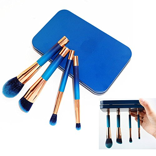 fiveaccy 4 Pieces Magnetic makeup brushes professional a cosmetic brush - Magnetic Case Cosmetic