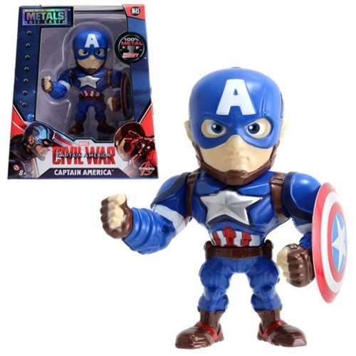 Captain America: Civil War Captain America 4-Inch Die-Cast Metal Action Figure