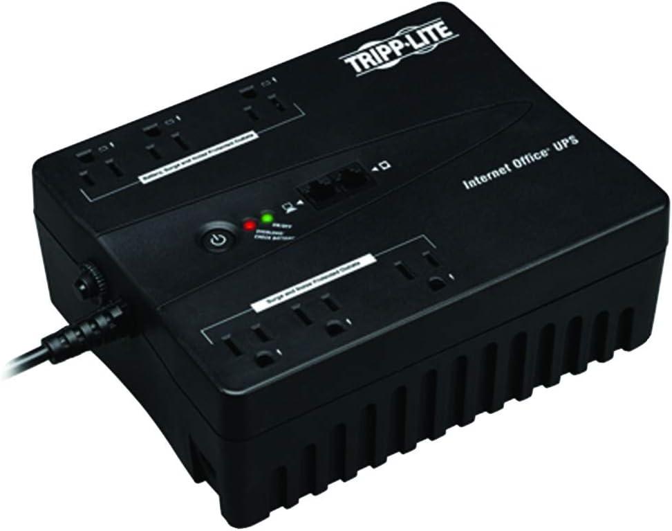 Output Power Capacity: 350VA//180W Tripp Lite INTERNET350U Internet Office Ultra-Compact Desktop Standby UPS System with USB Port New