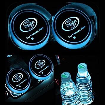 2PCS For Acura LED Car Cup Holder Pad Mats Car Automobile Atmosphere Lights USB