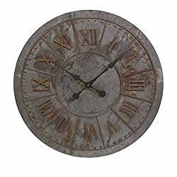 32 Distressed Oversize Industrial Style Roman Numeral Display Wall Clock