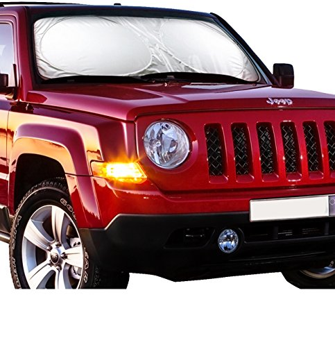 X-Shade Jumbo Sun Shade for Car windshield Comes with Cool Non-slip Pad 70 x 33 - Shades Online