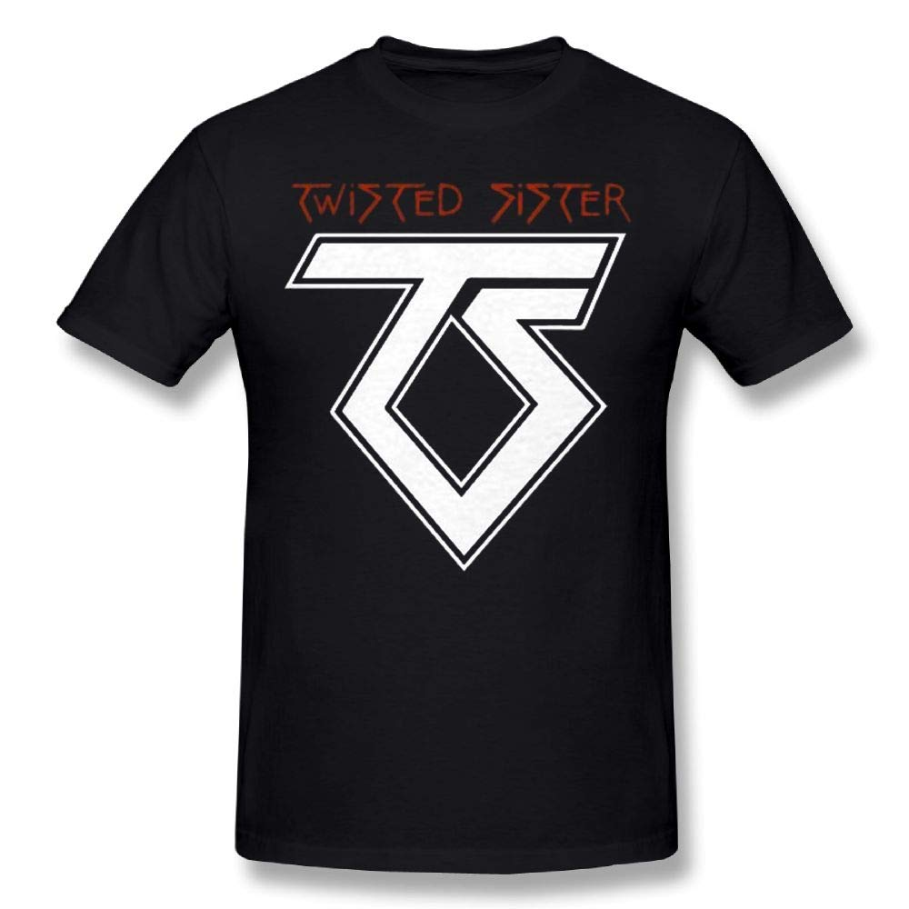 Man Twisted Sister Band Old School Rock T Shirt