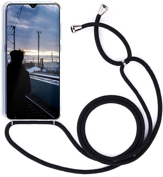Funda con Cuerda para Xiaomi Mi 8,Moda y Practico Carcasa de TPU Mate Case Cover con Colgante//Cadena.