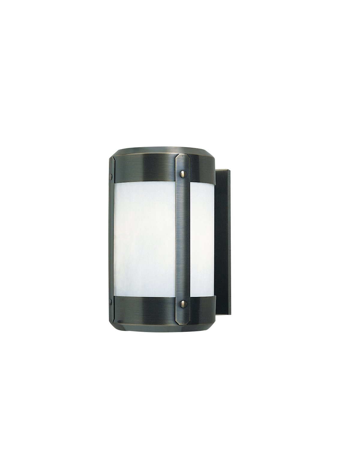 Arroyo Craftsman Berkeley Wall Sconce with Roof Satin Black Metal Finish, White Opalescent Glass, 8''