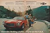 """1972 CHEVROLET CAMARO SS RALLY SPORT COUPE """"...If you want a Corvette, but you need a back seat """" VINTAGE COLOR AD DOUBLE PAGE - USA - FANTASTIC ORIGINAL !! offers"""