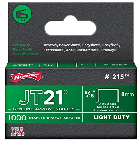 Arrow Fastener 215 5/16'' JT21 Staples by Arrow