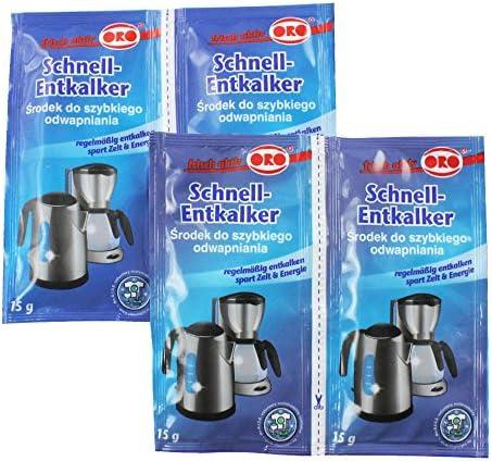 Orofix com-Four® Paquete económico de descalcificador rápido 60 g para cafeteras y hervidor (04 x 15g): Amazon.es: Hogar