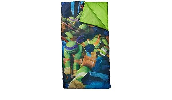 Las Tortugas Ninja Teenage Mutant Ninja Tortuga Saco de Dormir/Saco de Dormir con Almohada de Viaje: Amazon.es: Hogar