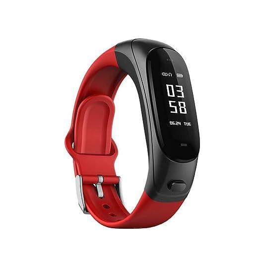 De Gama Alta V08 Silicona Pulsera Inteligente Auriculares Bluetooth 2-en-1 Llamada de