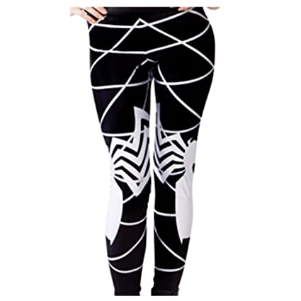 amazon com jeggings women spider man symbiote leggings sport gym