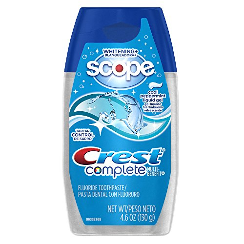 Crest Complete Tartar Control Whitening Plus Scope Liquid Gel - Cool Peppermint 4.6 Oz (Pack of ()