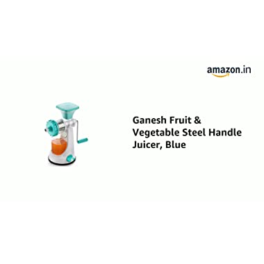 Ganesh Fruit & Vegetable Steel Handle Juicer, Blue 6