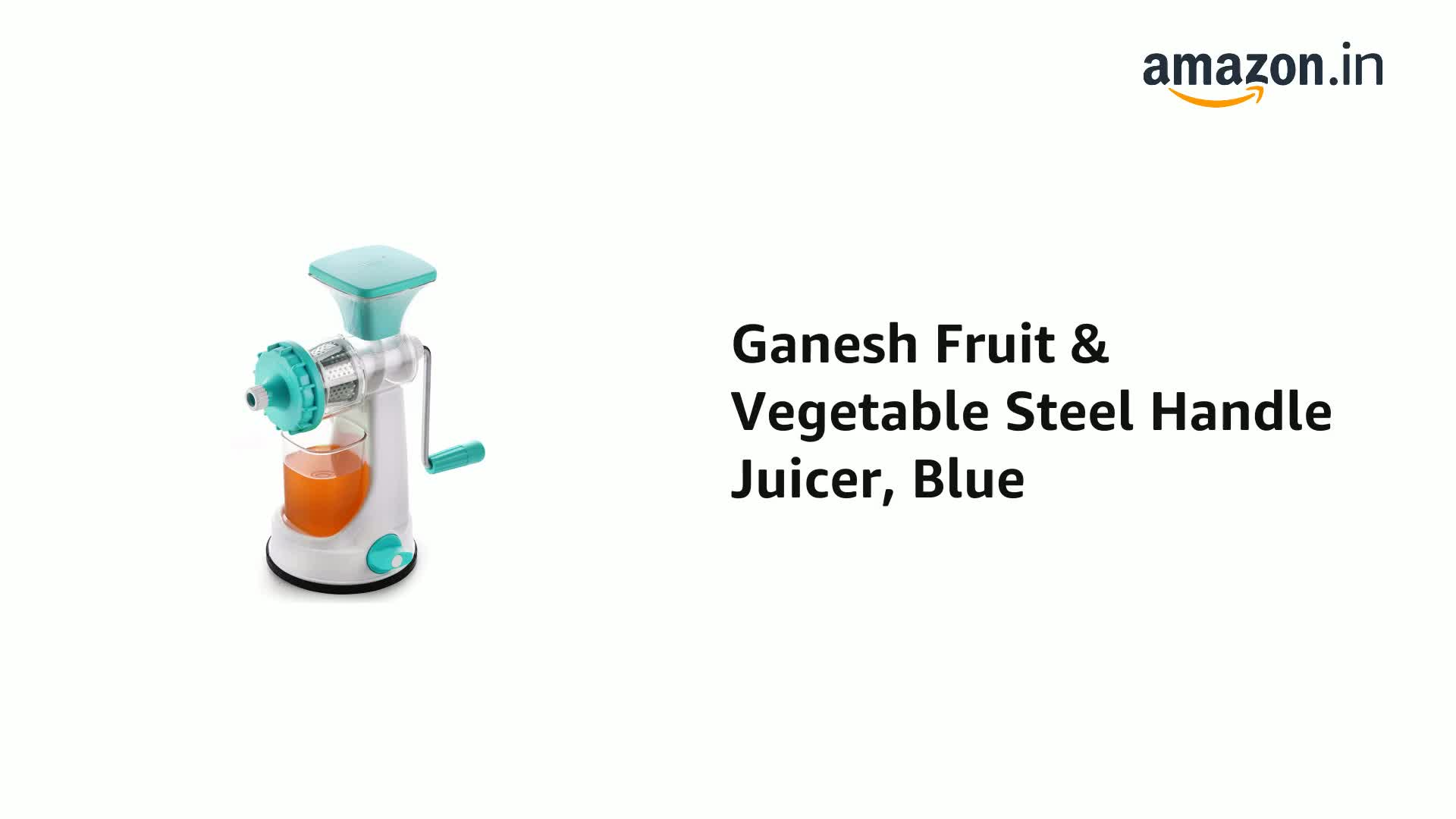 Ganesh Fruit & Vegetable Steel Handle Juicer, Blue 2