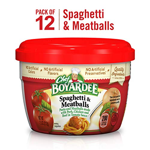 Chef Boyardee Spaghetti & Meatballs in Tomato Sauce, 7.5 Oz. (Pack of 12)