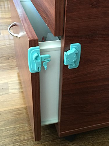 katabird baby safety cabinet locks 4 count child safety latches best for baby proofing. Black Bedroom Furniture Sets. Home Design Ideas