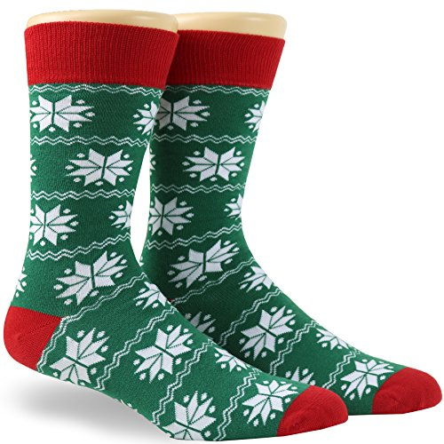 Novelty Christmas Funny Mens Combed Cotton Dress Socks Holiday Gifts Size 10-13