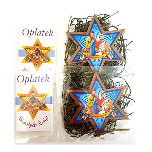 Set of 2 Mini Christmas Wafers & Hay (Oplatek & Sianko)