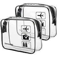2-pack Lermende Clear Toiletry Bags (Black)