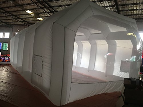 Inflatable Spray Booth Custom Tent Car Paint Booth Inflatable Car (White) ((26x13x10Ft)) by LIVIQILY (Image #1)