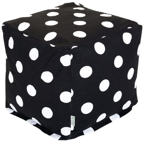 Majestic Home Goods Black Large Polka Dot  Small Bean Bag Red Twill