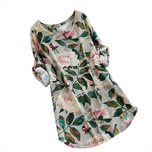 Women Floral Dress, Limsea Print Mini Dress Summer Party Long Long Sleeve Dress Plus (Tutu Dresses For Plus Size Women)