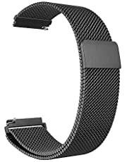 Samsung Gear S3 Band, Galaxy Watch (46mm) Band, Stainless Steel belt Milanese Loop with Adjustable Magnetic Clasp for Gear S3 Classic / Frontier Smart Watch Band, black