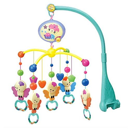 Baby Cute Little Angel Stuffed Crib Mobile Music Box Toys,0-12 Months