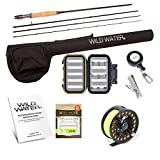 Wild Water Fly Fishing Rod and Reel Combo Complete 5/6 Starter Package