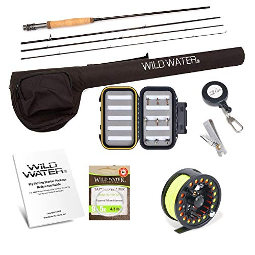 Wild Water Fly Fishing Rod and Reel Combo Complete 5 6 Starter Package