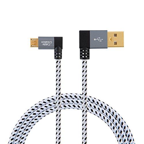 5 opinioni per Cablecreation, cavo USB 2.0A a micro USB B, connettori ad angolo retto, cavo