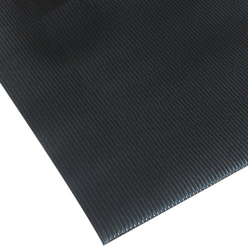 NoTrax 413 Blade Runner Safety Anti-Fatigue Mat with Dyna-Shield PVC Sponge, 3 Width x 4 Length x 1 2 Thickness, Black