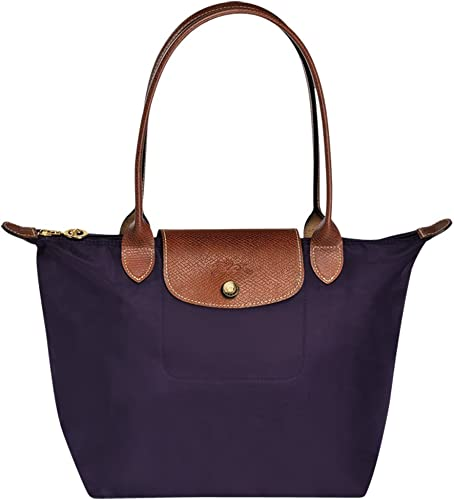 JIWEI Longcham Bag Le Pliage Large Shoulder Tote Bag Bilberry