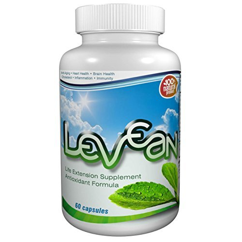Levean - Natural Remedies for Regulating Lower Blood Pressure and High Blood Pressure. 100% Natural Lower Cholesterol (60 capsules)